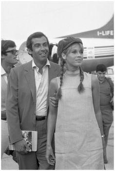 Jane Fonda and Roger Vadim, aeroportoTessera1967