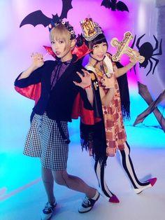 """藤咲彩音 Fujisaki Ayane (""""Pinky"""") and Mogami Moga 最上もが - Dempagumi.inc / でんぱ組.inc"""