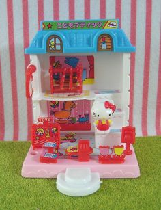 Vintage Sanrio 1976 : Hello KItty. My parents got me the whole village for Christmas one year.