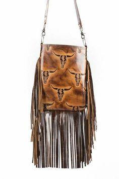8d1cae1c9 Details about Western Cross Body COWHIDE Leather Handbag Rodeo Purse w/ Fringe  Bag USA VT-3005