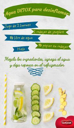 Además de ayudarnos a desinflamar el cuerpo, esta bebida nos hidrata, alcaliniza y mejora la digestión.   #Detox #Food #Health