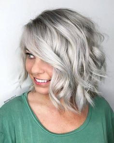 Amazing ash blonde hair color trends and shades for 2019 primemod. Bobs For Round Faces, Hairstyles For Round Faces, Medium Hair Styles, Short Hair Styles, Aveda Hair Color, Lighter Hair, Silver Grey Hair, Ash Blonde Hair, Blonde Color