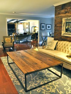 Reclaimed Barn Wood Coffee Table from NC Tobacco by hautehabitats, $725.00