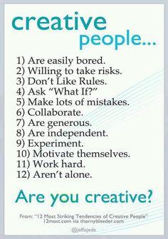 "Creative people ""rules"""