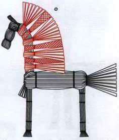 Изготовление соломенной лошадки