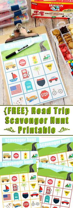 No road trip is complete without car games and snacks! Download this Road Trip Scavenger Hunt Printable and see how easy it is to make road trip snack boxes! #HorizonSnacks #ad @horizonorganic