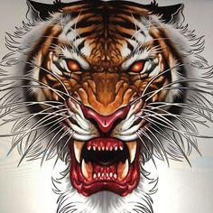 Không có mô tả ảnh. Wild Animal Wallpaper, Tiger Wallpaper, Lion Tattoo, Cat Tattoo, Manga Tribal, Tribal Animal Tattoos, Japanese Tiger Tattoo, Tiger Skull, Skull Tattoo Flowers