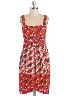 Poppy in the Name of Love Dress - Floral, Daytime Party, Shift, Sleeveless, Summer, Woven, Better, Cotton, Red, Multi