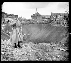 27 de marzo de 1917. Somme, Francia (nota manuscrita del autor sobre el negativo de vidrio).