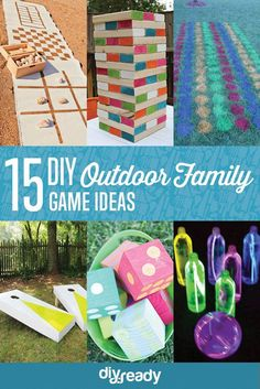 15 DIY Outdoor Family Game Ideas by DIY Ready at http://diyready.com/15-diy-outdoor-family-games/