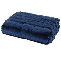 Paxton and Wiggin Faux Fur Throw True Navy