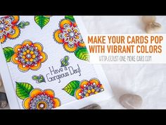 Make Your Stamped Images POP With Vibrant Colors - Stabilo Fibre Tip Pens Demonstration - YouTube