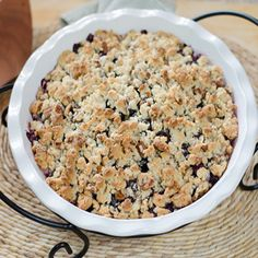 Paleo Peach Blueberry Crisp - completely dairy-free, gluten-free, grain-free and refined sugar free