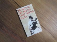 #2599-1 one martini wood funny magnet 3x4\