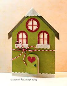 Gingerbread house card - green