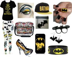 """Batman outfit for Halloween party!"" by french-directionner ❤ liked on Polyvore"