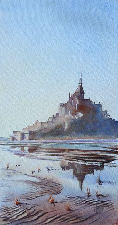 Reflets au Mont Saint Michel