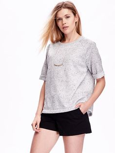 Relaxed Rolled-Cuff Sweatshirt Product Image
