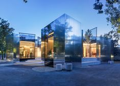 PPAG Architects add mirrored extension to a restaurant