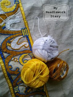 My Needlework Diary: PROJECTS: MEDIEVAL embroidery ABB Bayonne