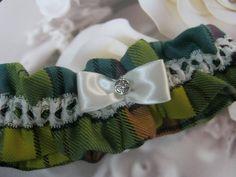 MacMillan Old Ancient Tartan Wedding Garter by bridesstudio on Etsy