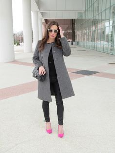 Pierre Hardy Pink Suede Shoes, Elleoquent Style Blog