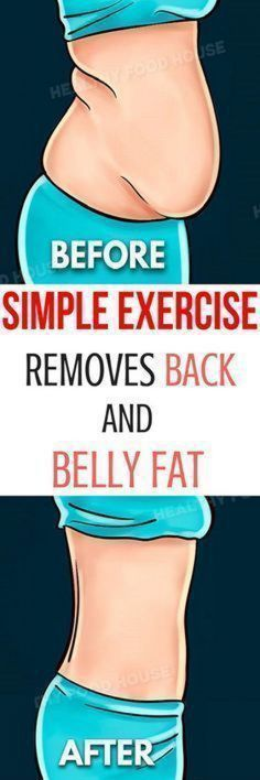 This Simple Exercise Removes Back and Belly Fat in No Time!-What if there was a way to fully transform your body in a very short time? This article does not offer you some kind of miraculous potion or wraps, but a simple and effective exercise that will m Belly Fat Burner Workout, Fat To Fit, Lose Fat, Loose Weight, Body Weight, Easy Workouts, Get In Shape, Excercise, Diet Exercise