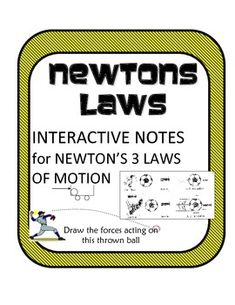 This document contains NOTES for students to take on Newtons Laws of Motion. They include several example activities and demonstrations for the teacher and/or the students to do! This makes note-taking more interactive and helps kids 'get' it!The notes are simplified for easy understanding!Pair this activity with a real world example Newton's Laws card sort!Newton's Laws of Motion Task Card Sort -Real World ExamplesNow part of an awesome bundle of force lessons for only $4.50Newtons Force…