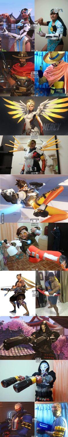 Overwatch cosplay (he is really genius)
