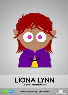 LIONA LYNN, original character by Yuu. #VectorDoodle by Glen Tripollo