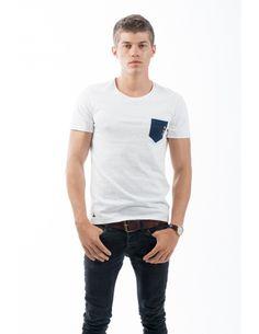 T-shirt à col rond en coton biologique. 100% fabriqué in France par Leax.