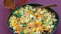 Shredded Brussels Sprout Salad with Walnuts and Currants - Recipe - FineCooking