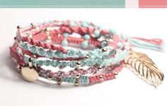 Love these friendship bracelets especially the colors.