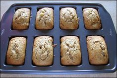 I splurged on a new kitchen gadget for myself last week...a mini loaf pan. I just love anything in individual serving size form. ...