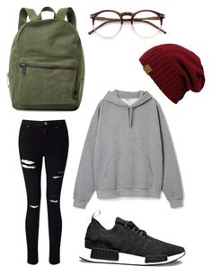 """Simple 👌🏼"" by jackaveryfan on Polyvore featuring Miss Selfridge, adidas, Wildfox and Herschel Supply Co."