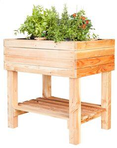 De moestuintafel Pinus is de ideale oplossing voor mensen zonder tuin of ideaal voor op een balkon of appartement.