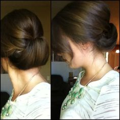 Because why not  #hair #updo #style