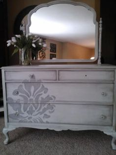 FABulous 1920s Dresser and Mirror