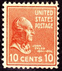 John Tyler 1938 Issue-10c. - On June 2, 1890 the US Post Office issued a brown 5-cent Postage stamp honoring Ulysses S. Grant. It was the first US Postage stamp to depict the former President and Civil War General. This issue was released exactly twenty-five years after Gen. Edmond Kirby Smith's surrender of the last major Confederate army at Galveston, Texas, on June 2, 1865. The issue was printed by the American Bank Note Company.[43]
