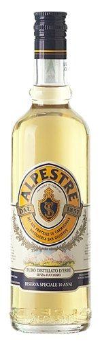 B&R Bevande enoteca Torino - Shop online. Questo liquore viene prodotto grazie all'utilizzo di 34 diverse erbe. La ricetta ed il metodo di produzione rimane ancora oggi un prezioso segreto. L'alpestra ha la rara caratteristica di non contenere lo zucchero al suo interno infatti, il gusto, è dovuto unicamente alle erbe.