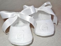 Baby Shoes  Baby Shoes for Baptism  Personalized by KayLaneSisters