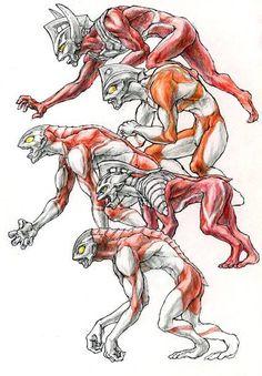 糞ボルト落書き道場の - 二次元裏@ふたば にある画像   ふたばログサイト Creature Concept Art, Creature Design, Character Design References, Character Art, Japanese Superheroes, Dinosaur Art, Anime Art, Creatures, Godzilla