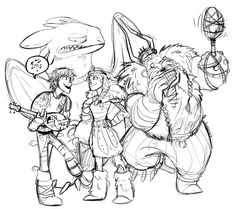 Hiccup would turn to Gobber for tips on serenading Astrid. Hiccup is not a really good singer, but Astrid finds it sweet and endearing anyway. Toothless, on the other hand, thinks differently…..