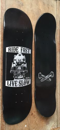 "GOOD TIME SKATEBOARD CO — Tim Barry ""Ride Fast"" Skateboard"