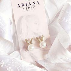 Ariana Grande For Lipsy | Pearl Bunny Earrings www.lovecatherine.co.uk www.instagram.com/catherine.mw
