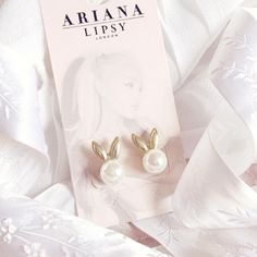 Ariana Grande For Lipsy | Pearl Bunny Earrings www.lovecatherine.co.uk www.instagram.com/catherine.mw
