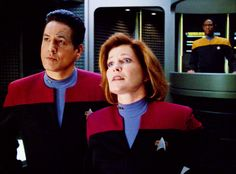 Dedicated to the road that The Powers That Be did not boldly take for Star Trek: Voyager. tags / ask / Great Love Stories, Love Story, Robert Beltran, Cast Images, Captain Janeway, Kate Mulgrew, Star Trek Series, Star Trek Voyager, Spock