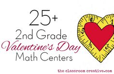 Second Grade Math Centers for Valentine's Day