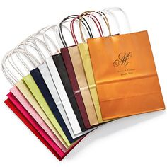 Personalized Welcome Bag- welcome out-of-towners with a splash of your perfectly picked wedding colors.