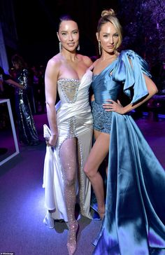 Model behaviour: The catwalk queen also posed for a photo with Candice, who also put on a ...